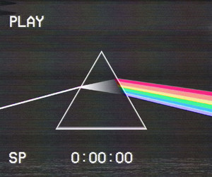 Pink Floyd, the dark side of the moon, and vhs image