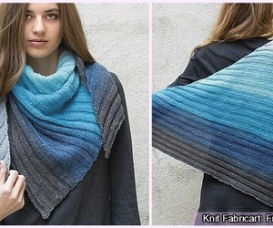 fashion and knit scarf image