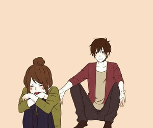 couple, cute, and anime image