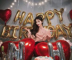 asian girl, balloons, and beautiful image