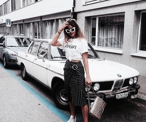 fashion, car, and girl image