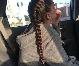 girl, hair, and braid image