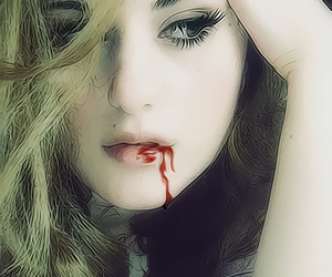 blood, girl, and love image