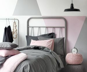 bed room, aesthetic indie pale, and rose grey minimalist image