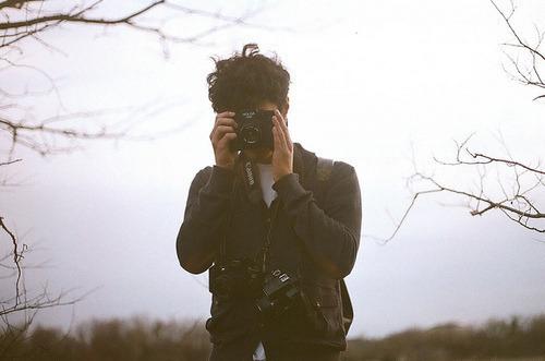 boy, vintage, and camera image