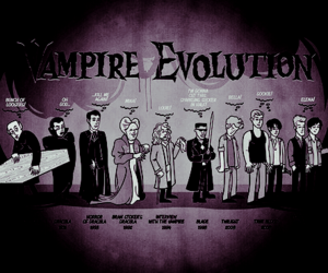 vampire, Dracula, and evolution image