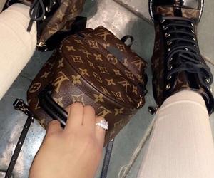bag, boots, and diamond image