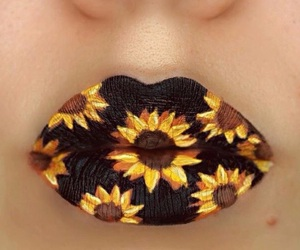 flores, flowers, and lips image
