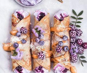 food, purple, and dessert image
