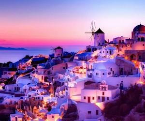 beautiful, purple, and Greece image