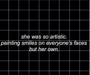quotes, grunge, and smile image