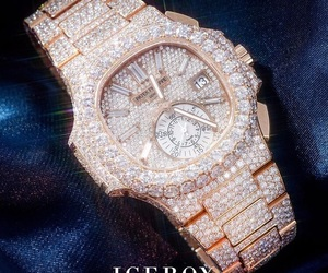 watches, iced, and patek philipe image