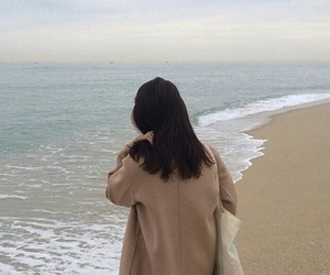 aesthetic, beach, and brown image