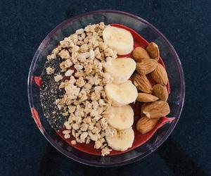 almonds, banana, and berries image