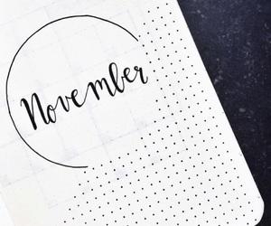 art, november, and bullet journal image