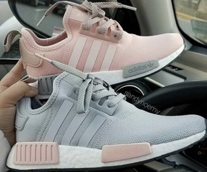 grey, pink, and shoes image