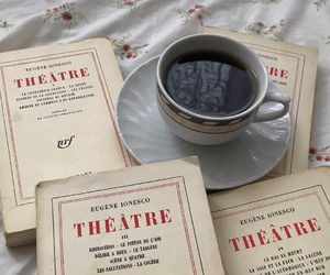 books, literature, and coffee image