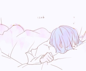 anime, bed, and colorful image