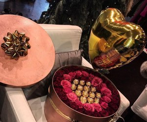 flowers, luxury, and chocolate image