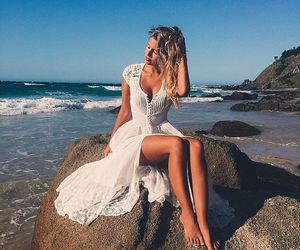 dress, beach, and fashion image