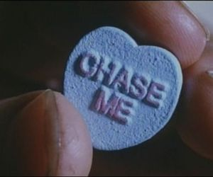 grunge, chase me, and heart image