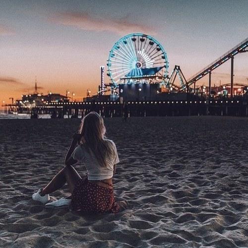 california, girl, and santa monica image