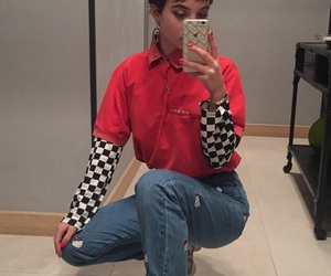 aesthetic, checkerboard, and Prada image