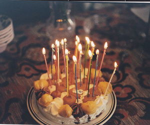 cake, candle, and food image
