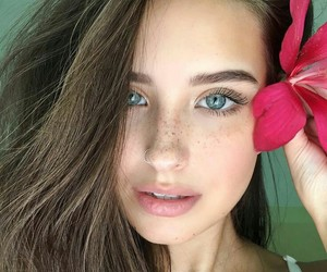 girl, beauty, and eyes image