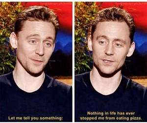 pizza and tom hiddleston image