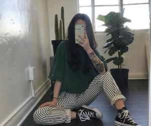green, outfit, and grunge image