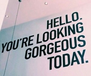 quotes, gorgeous, and hello image