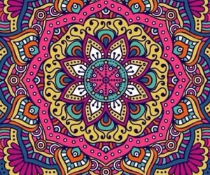 background, colors, and mandalas image