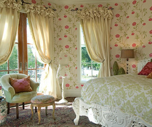 bedroom, vintage, and floral image