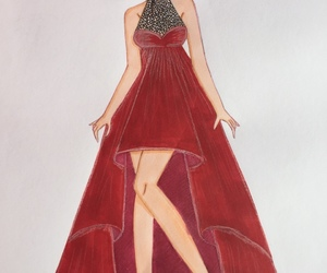 art, artist, and dress image