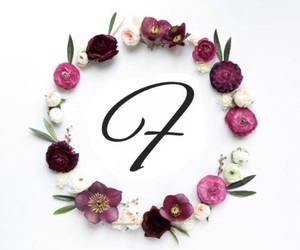 alphabet, f, and flower image