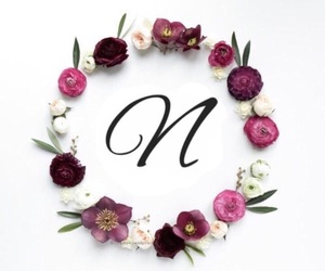 flowers, monogram, and wreath image