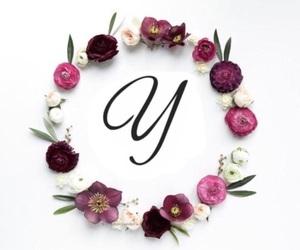 alphabet, monograms, and flower image