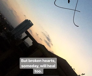 broken heart, heart, and quote image