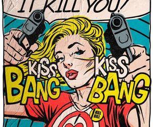 bang, kiss, and pop art image