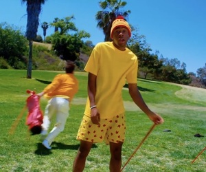 golf, yellow, and red image