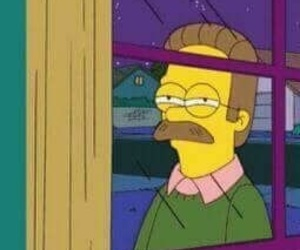 simpsons, ned flanders, and reaction image image