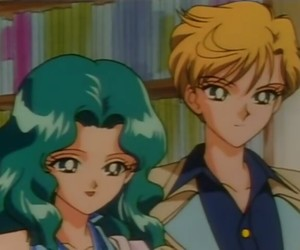 sailor moon, sailor neptune, and sailor uranus image