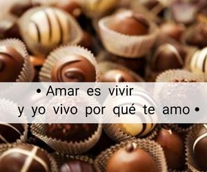 amor, chocolates, and frases image
