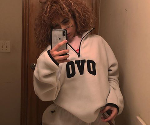 aesthetic, curly hair, and instagram image