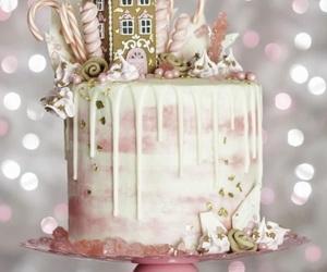 cake, pink, and christmas image