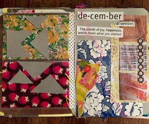 art journal, visual journal, and junk journal image