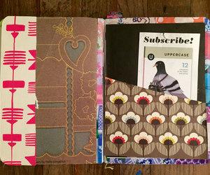 art journal, junk journal, and moleskin image