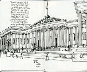 British Museum, facade, and london image