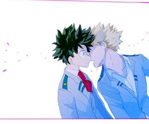 boku no hero academia, izuku midoriya, and katsuki bakugou image